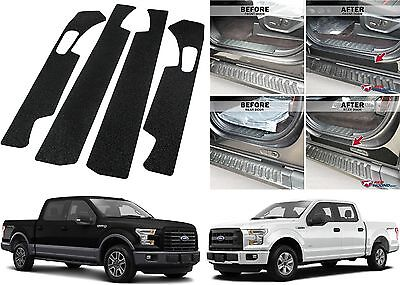 - 4pc Door Entry Scuff Guards For 2015-2018 Ford F-150 Crew Cab New Free Shipping