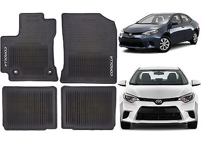 Genuine OEM Front & Rear Rubber Floor Mats For 2014-2017 Toyota Corolla New USA