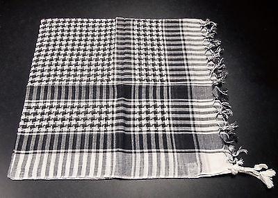 Palituch Palästinenser Tuch weiß schwarz PLO 100% Baumwolle Rocker Halstuch PUNK