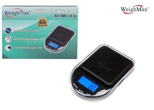 Weighmax EX-750C X 0.1g Digital Pocket Mini Scale