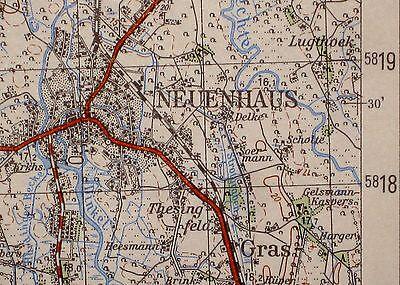 3506 Neuenhaus, topographische Karte, 1:50.000, gedruckt 1963, ungefaltet !!
