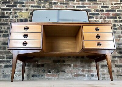 Mid Century Teak And Maple Dressing Table Or Desk By Butilux