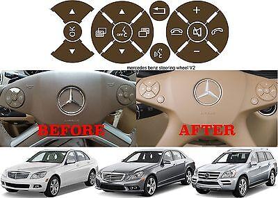 Brown Replacement Steering Wheel Button Sticker Mercedes C Class E Class G Class - Cheap Custom Stickers