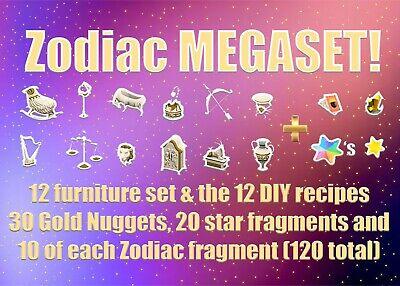 ACNH Zodiac Megaset (Animal Crossing New Horizons Zodiac set + DIY + Goodies)