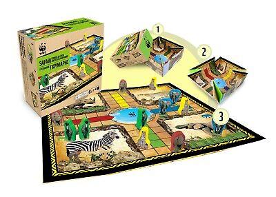 Parchis Juego de mesa tablero Safari Circuito de Guepardos WWF familiar niños