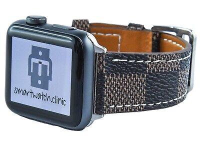 smartwatch.clinic Apple Watch Lederarmband VALINDA in braun, weiß oder grau ()