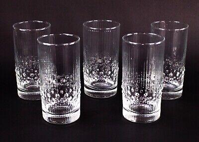 Iittala Finland Tapio Wirkkala Mesi Bubble Highball Glasses Tumblers Set of 3 Iittala Tumbler Set