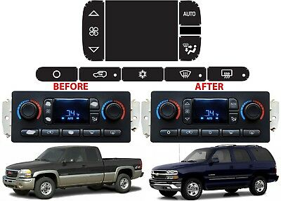 Replacement Climate Control Panel Button Stickers For 2002 2006 Gm Trucks New