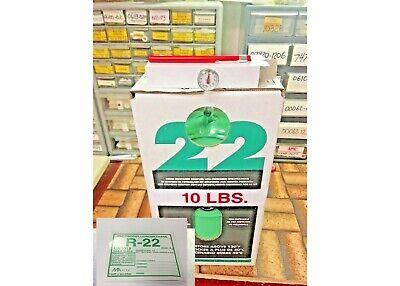 Refrigerant 22 R22 10 Lb. Tank 10 Lb R-22 Free Shipping Kit N3