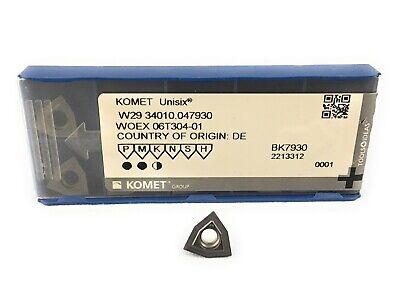 10pckomet Trigon Carbide Drill Insert W29 34010.047930 Bk7930 Woex 06t304-01