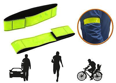 2x Reflektierendes Band Leuchtarmband Joggen Fahrrad Reflektorband Reflexband