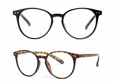 Large Oversized Round Reading Glasses Horn Clear Lens Thin Frame Nerd Glasses (Large Circular Frame)