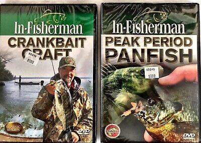 Choose 5 Fishing DVD/'s BUY 10 get 2 FREE iN-FISHERMAN Ice Bass Muskies Walleye