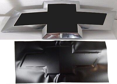 "(1) 10"" x 5"" Matte Black Vinyl Bowtie Overlay Decal For Chevrolet Emblems Oracal"