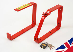 LOCKABLE LADDER/BIKE STORAGE HOOKS- HEAVY DUTY HOOK! DIRECT FROM UK FACTORY