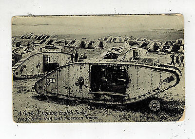 Mint WW 1 England British Tanks RPPC  real picture Postcard