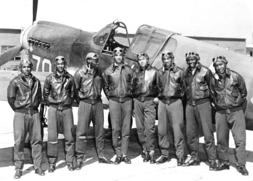 GROUP OF TUSKEGEE AIRMEN-Elite ALL AFRICAN AMERICAN 332nd Fighter PHOTO #2
