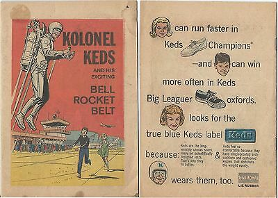 KOLONEL KEDS & HIS EXCITING BELL ROCKET BELT MINI GIVEAWAY PROMO COMIC 1965 VG