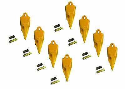 8 - Esco Style 18 Series Mini Excavator Backhoe Bucket Rock Teeth W Pin Kits