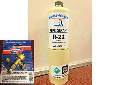 R22 R-22 Refrigerant 22 Air Conditioning Refrigeration 20 Oz Can Onoff