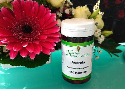 100 Tabletten Natürlich Vitamine (Acerola 100 Lutschtabletten 100% natürliches Vitamin C, Tabletten  LaVita)