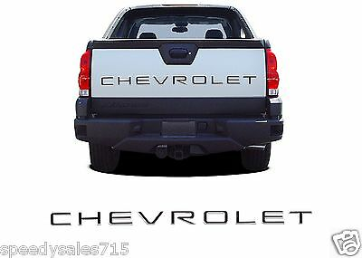 Piano Black Tailgate Letter Inserts For 2002-2006 Chevy Avalanche New Free Ship