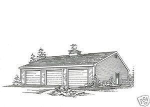 36 x 36 3 to 6 car garage building plans blueprints 6 car garage plans