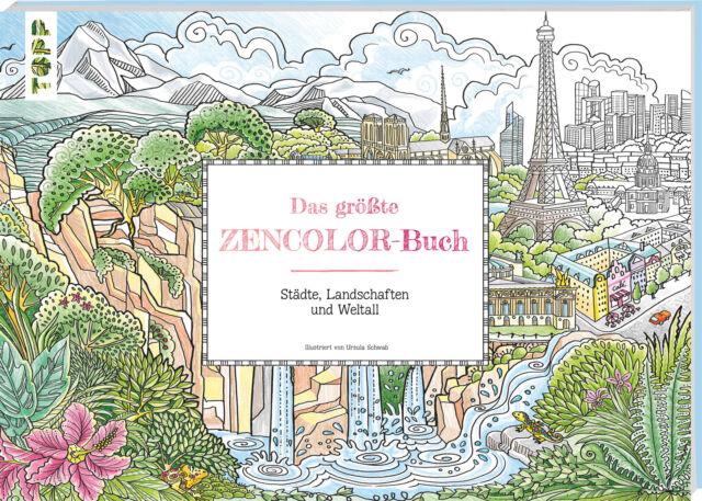 BUCH - Das größte Zencolor-Buch (Ausmalbuch für Erwachsene - Ursula Schwab