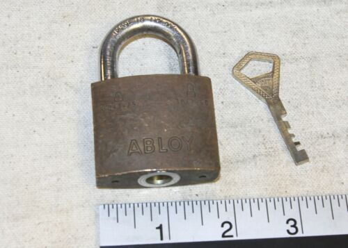 Abloy 3041 model padlock w/ 1 working key - Tested good - made in Finland
