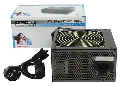 KONIG CMP-PSUP550W/S ATX Silent Power FREE Belgian Delivery Mondial Relay Point