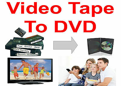TRANSFER VIDEO TAPES to DVD * Qty15 * Hi8 VHS VHS-C MiniDV * Transfer Service