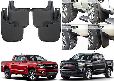 Front & Rear Molded Mud Flaps Splash Guards For 2015-2017 Colorado/Canyon New
