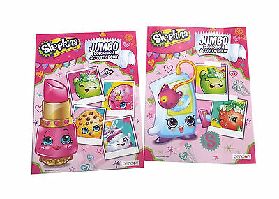 NEW Set of 2 Shopkins Kids Coloring Book and Activity Books Set