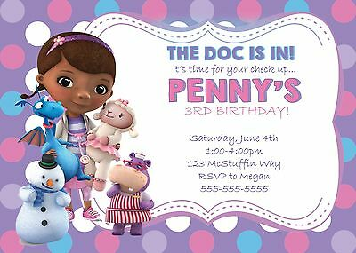 Custom  Doc McStuffins Invitations! Save Money! You Print!](Doc Mcstuffins Custom Invitations)