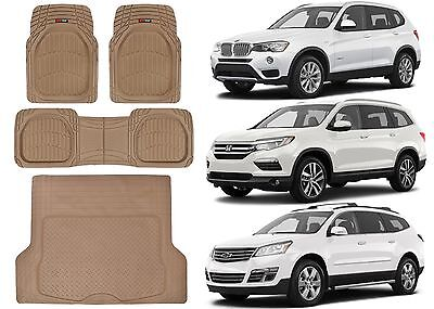 4pc Front, Rear, Cargo Universal Rubber Floor Mats New Free Shipping USA