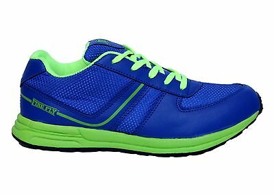 FIRE FLY MEN ROAD RUNNER SHOE BLUE LIGHT WALK CASUAL JOGGING RUNNING OUTDOOR -