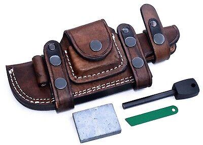 "CFK Custom Handmade Horizontal 6"" Fixed Blade Leather Knife RIGHT HAND Sheath"