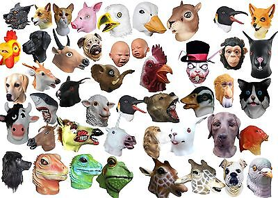 Latex Overhead Animal Mask Head Masks Cosplay Masquerade Fancy Dress Up Carnival - Overhead Masks