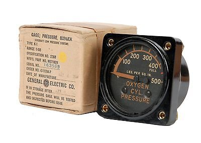 Oxygen Pressure Gauge for WWII Night Fighters Such as P-61 Black Widow  INS-0138