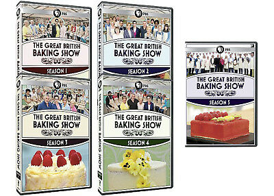 The Great British Baking Show TV Series Complete Seasons 1-5 BRAND NEW DVD