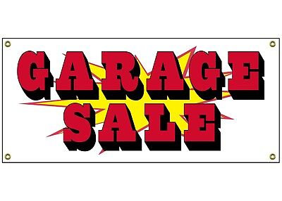 Garage Sale Banner Retail Store Home Shop Business Sign 36  By 15  Yard Estate