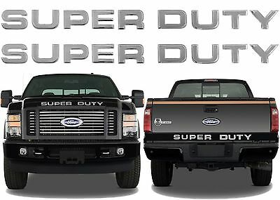 Chrome Mirror Super Duty Grill & Tailgate Letters For 2008-2016 F-250 F-350 New