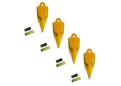 4 - Esco Style 18 Series Mini Excavator Backhoe Bucket Rock Teeth W Pin Kits