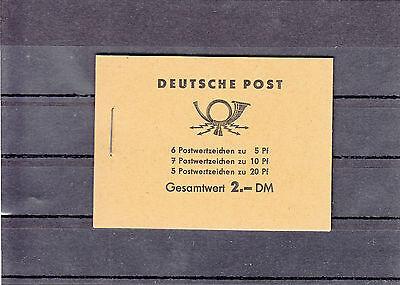 DDR (MH)  Nr. 3 b / 1,  Markenheft,  postfrisch, Scan