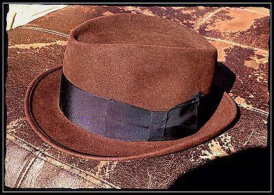 DOBBS FIFTH AVENUE NEW YORK▪️VINTAGE 1920'S MENS FELT FEDORA HAT BOX SIZE 6 7/8