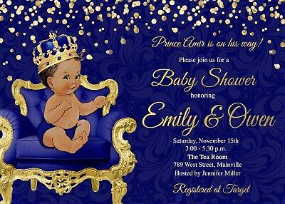 Prince Baby Shower Invitation, Prince, Baby Shower, Boy, Gold, Invitation, Baby - Baby Shower Boy Invitations