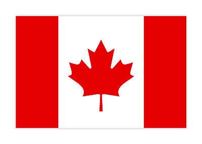 Aufkleber Kanada Canada Ahornblatt Flagge Fahne für Auto Motorrad etc. 10cm (Autofahne Kanada)