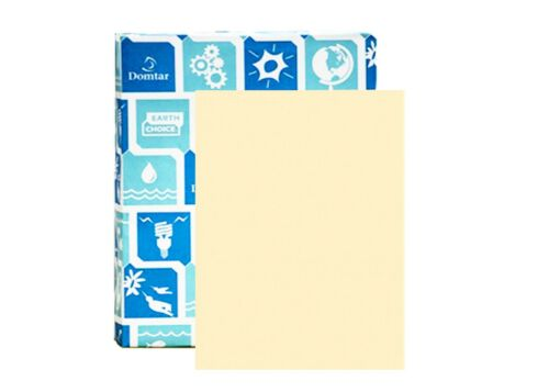 Domtar® EarthChoice Colors Opaque text Cream 60 lb. Vellum 8 1/2 x 11 500 sheets