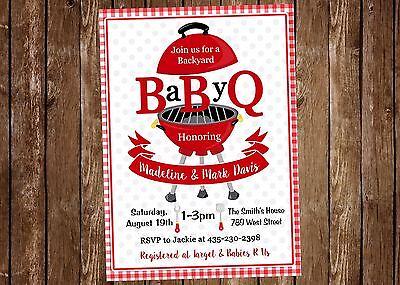 BBQ, Baby Q, BabyQ, Cookout, Baby Shower Invitation - Baby Q Invitations