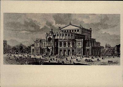 Dresden Sachsen DDR Semperoper Oper anno 1880 Volkskunstverlag Reichenbach AK
